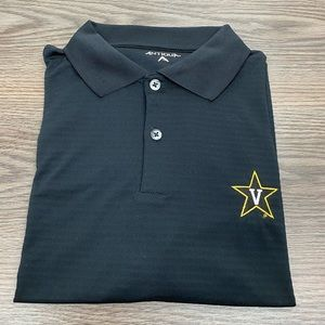Antigua Black Vanderbilt Commodores Polo Shirt L